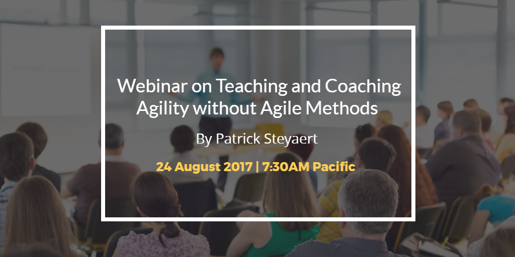 Teaching and Coaching Agility