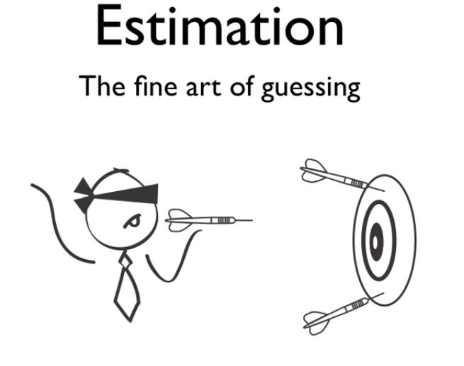 Estimation is (necessary) waste… REDUCE it!